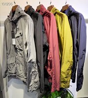 Wholesale button words resale online - Fashion mens windbreaker American style fashion hip hop designer Trench Coats pants embroidery word metal nylon pocket men jackets