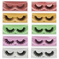 Wholesale dramatic lash extensions resale online - 3D Faux Mink Eyelashes Long Lasting Mink Lashes Natural Dramatic Volume Eyelashes Extension Thick Long D False Eyelashes