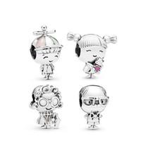 ingrosso perline per fare braccialetti-New Fits Pandoa Bracciali Boy Girl nonno nonna ciondola i branelli di fascini per il commercio all'ingrosso fai da te monili che fanno membro della famiglia bead accessori
