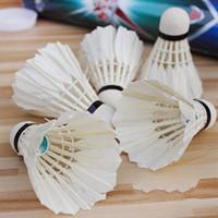 kaz tüyü badminton toptan satış-10 Açık Spor Raketle A + 60extra Kaz Tüyü Uçan Istikrar Dayanıklı Birdies Rekabet Direnç Eğitim Badminton