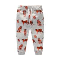 ingrosso pantaloni della striscia della tigre-Pantaloni per bambini Pantaloni per neonato Cartone animato per auto Modello Tiger Stripe Pantaloni con cinturino Ispessivo per pantaloni da uomo 32