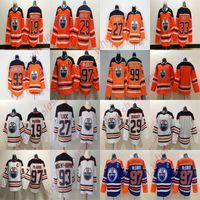 Wholesale youth wayne gretzky jersey for sale - Group buy 2019 Edmonton Oilers Jerseys Wayne Gretzky Milan Lucic Mikko Koskinen Leon Draisaitl Connor McDavid Stitched Man Youth Hockey Jersey