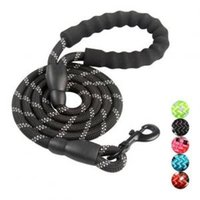 Wholesale led nylon pet dog collar online - 1 m Dog Pet Leash Strap Comfortable Padded Handle Threads Collar for Large Dogs Lead leashes AAA1743
