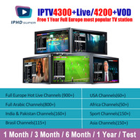 Wholesale arabic tv box online - IPTV For Smart TV Set Top Box Android Xiaomi iPhone IPTV Subscription With Months Live Arabic Server Indian Adult ITALY IPTV
