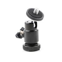 Wholesale swivel ball mount resale online - Universal quot Tripod Screw Head Degree Swivel Mini Ball Head Hot Shoe Mount Adapter For DSLR Camera Tripod Ballhead Stand