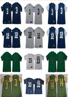 Wholesale Mens NCAA Jamal Adams ND Joe Montana Football Jersey Ian Book Shamrock Series Pinstripe Norte Dame Fighting Irish Jerseys