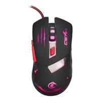 tastencodes großhandel-USB verkabelt schnell bewegliche LED-Licht-Gaming-Maus-Spiel-Peripheriegeräte mit sechs Tasten 3200 DPI Unterstützung Codierung Maus