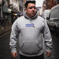 hoodies de algodão venda por atacado-19SS Bandana Caixa Logo moletom com capuz Moda Casual Highstreet Outwear Algodão S-XL Homens Mulheres Bordado Casal Hoodies HFLSWY357
