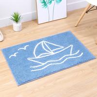 Wholesale padded bathroom mats for sale - Group buy New Size Non slip Bath Mat Blue Bathroom Mat Floor Foot Pad Absorbent Bath Mat Carpet Doormat High Quality Area Rug Home Decor