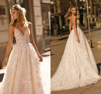 Wholesale winter tulle wedding dress for sale - Group buy New Design Berta Wedding Dresses Lace Applique A Line Spaghetti Straps Backless Bridal Gowns Custom Made