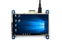 toque lcd resistivo venda por atacado-Waveshare 4 polegada HDMI LCD 800 * 480 Resistive Touch Screen IPS Interface Projetado para Raspberry Pi funciona como monitor de computador