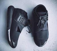y3 zapatos hombres al por mayor-Nuevos zapatos casuales Y-3 QASA RACER Hight SnEakers transpirable Hombres Mujeres Zapatos casuales Parejas Y3 Zapatos Tamaño Eur36-45