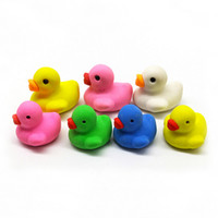 Wholesale stationery for kids resale online - Cute duck rubber eraser Cartoon removable eraser stationery school supplies papelaria gift toy for kids penil eraser toy gifts