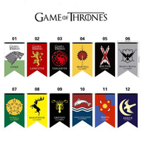 Wholesale banner props resale online - 20pcs Styles cm Game of Thrones Flags Garden decoration Flag DIY Yard Decorative Hanging Home Banner Flags party props