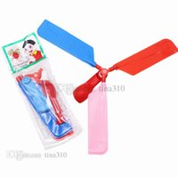 Wholesale helicopter toys for sale - Group buy Hot Flying balloon helicopter DIY balloon airplane toy children s toy combination balloon children s puzzle toy Party Favor T2G5015
