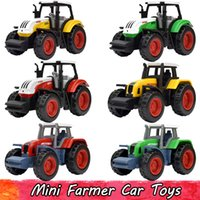Wholesale toys engineering vehicles resale online - 6 Sets Alloy Farm Vehicles Engineering Van Mini Farmer Cars Model Toy Educational Toys Tractor Diecast Gift For Boy Children
