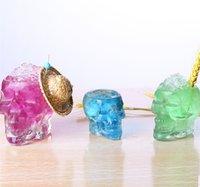 ingrosso bicchieri di vino novità-Più dimensioni 3D Skull Wine Cup Novità Occhiali Tazza d'acqua Orribile Design regalo Coppa per Bar Party Bere Decorazioni 50 pezzi DHL