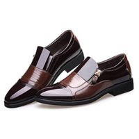 Wholesale unique black mens dress shoes resale online - New Mens Business Pointed Head Dress Men s Shoes Large Size Men Dress Shoes Leather Man Zapatos De Hombre Unique