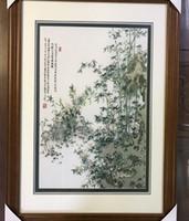 бамбуковая нить оптовых-Handmade Art Crafts 100% шелковицы шелковицы закончена Suzhou Вышивка не включает в себя рамку, домашний декор бамбук, 40 * 60 см