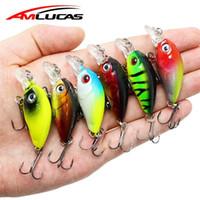 Wholesale japan hard lures resale online - Amlucas mm g Crankbait Fishing Lure Artificial Hard Crank Bait Bass Fishing Wobblers Japan Topwater Minnow Fish Lures WW267