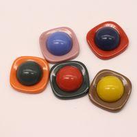 ювелирные изделия из смолы оптовых-3pcs 25mm Square Cabochon Bead Findings Resin Brooch Crafts Charms Making Diy Earrings Bracelet Necklace Jewelry Accessory F371