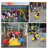 Wholesale inflatable balloon cheering sticks resale online - Kindergarten smart outdoor playing toys inflatable stick balloon parent child sense training sport toy for children cheering bar cm