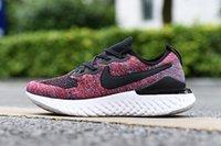 sapatos de corrida super leve venda por atacado-Nike Epic React Flyknit 2019 Venda Quente Épicos Reagir 2 Tênis de Marca de Moda Super Trançado Partículas De Espuma Esporte Tênis Ultra Leve Choque Jogging Shoes 36-45