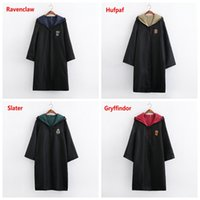 Wholesale halloween costumes for sale - Theme Cosplay costume New Halloween party clothes Harry Potter Gryffindor Slytherin Hufflepuff Ravenclaw Cloak magic robe Kids Adult