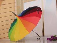 guarda-chuva de natal venda por atacado-Umbrella Sun Rainbow Padrão Princesa Real Parasol Lady Pagoda guarda-chuva de cabo longo de presente de Natal entrega gratuita EEA198
