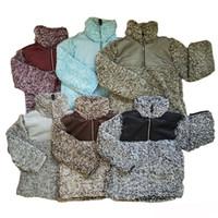 ingrosso giacca di pile di neonato-Ragazzi Ragazze Inverno Autunno Sherpa Pullover Coat Jacket Bambino Bambini Warm Hoodie Felpa in pile Sweater 6 colori DHL Ship