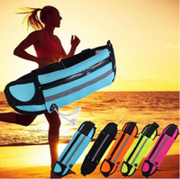 Wholesale fanny packs resale online - Waterproof Running Sport Hiking Belt Bum Waist Pouch Fanny Pack Zip Bag for iPhone Samsung Huawei HTC Phones with Opp Bag