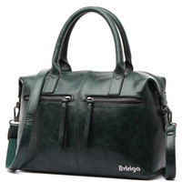 ingrosso borse verde tote verdi-Bvlriga Green Handbag Donna Borsa Donna Borse per donna 2019 PU Leather Messenger Borsa donna tracolla Crossbody Boston Black Y19061204