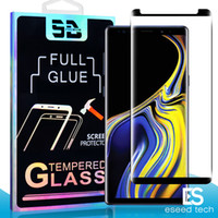Wholesale note glass glue online – 3D Full GLUE Coverage Fingerprint Unclock Case friendly Tempered Glass For Samsung Note S10 S9 S8 Plus S7 S6 Edge Curve Screen Protector