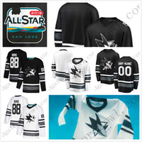 8f27f8ad7a2 2019 All-Star San Jose Sharks Game Brent Burns Joe Pavelski 28 65 Erik  Karlsson Evander Kane Joe Thornton Logan Couture Vlasic Hockey Jersey