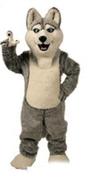 2019 Factory direct sale Wolf mascot costumes halloween dog mascot character holiday Head fancy party costume adult size birthday