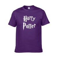 benzersiz kostüm tasarımları toptan satış-Sıcak Satış erkekler t gömlek harry potter hogwarts baskı gömlek benzersiz tasarım harry potter kostüm serin sihirli okul hogwarts t-shirt ZG4