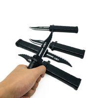 juguetes cuchillo al por mayor-El más nuevo Noverty Toys Joke Magic Plastic Cuchillo retráctil Broma Prank Props Cuchillo Scary Trick Daga falsa para los regalos de los niños