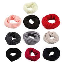 ingrosso sciarpa in inverno-1Pc inverno caldo spazzolato Knit scaldacollo Circle uscire Wrap Cowl Loop Snood Scialle Outdoor Sci Arrampicata sciarpa per gli uomini le donne # R15