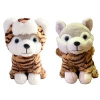 Wholesale sweetheart toys for sale - Group buy Cute Animal Tiger Plush Toy Dog Wearing Dinosaur Clothes Sweetheart Baby Sleeping Soft Toy cm For Children s Novelty Gift