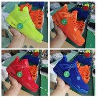 zapato volador para hombre al por mayor-Fly 2019 de punto University Red 4 IV 4s Volt hombres Zapatillas de baloncesto Hyper Royal Total Orange para hombre deportes al aire libre zapatillas 7-13