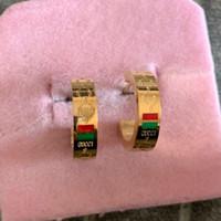 altın gümüş takı torbalar toptan satış-Solmaya asla Deluxe Marka Takı hediye torbalar Kadın erkek paslanmaz çelik 18 K altın gümüş gül altın dolgulu daire küpe pendientes