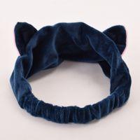 Wholesale full moon cosplay online - hair band pc Girls Casual Cartoon Elastic Headband Moon Embroidered Pattern Cat Ears Hair Band