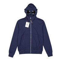 güneş gözlüğü toptan satış-İlkbahar sonbahar tişörtü mens retro spor tasarımcısı hoodie fermuar hırka güneş gözlüğü dekoratif düz renk gençlik açık seyahat kazak