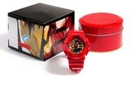 eisen limitierte auflage großhandel-Heißer Verkauf MARVEL Limited Edition Herrenuhren Kautschukband Iron Man und Captain America stoßfest Uhr cool Designer wasserdicht Uhren
