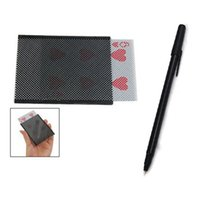 Wholesale poker magic tricks resale online - Modern King Funny Playful Magical Tricks Poker Card with Fancy Magic Trick Pen Penetration Through Money Note Trick Great