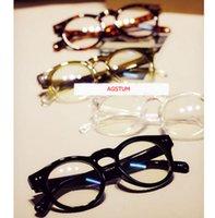 роговые линзы оптовых-Agstum Круглый Толстые Horn Rim Оптический Оправа Clear Lens Spectacles 2175