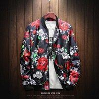 japan coat homens do estilo venda por atacado-Novo Estilo Japão Casuais Bomber Rose Jaqueta Homens Jaqueta Masculina Mens Casacos Casaco Chaquetas Hombre Veste Homme Casaco Masculino