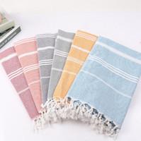toallas de mujer caliente al por mayor-Venta caliente toalla de playa algodón mujeres nuevo turco borla toallas de baño regalo spa yoga toallas de playa