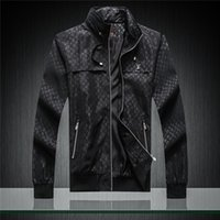 ceket erkek beyzbol toptan satış-2019 lüks erkek tasarımcı ceket Yüksek sürüm ceket marka ilkbahar ve sonbahar ince Beyzbol ceketler hip hop pilot ceket