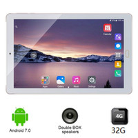 suporte a otg telefone android venda por atacado-Novo 10.1 polegadas tablet pc original 3g telefonema android 7.0 tablet quad core 32 gb 8000 mah dual camera tablet suporte tf cartão otg